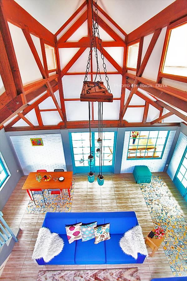 Living room at Barn Villa